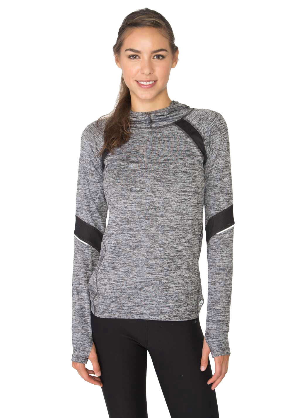 RBX Active Studio Space Dye Hoodie with Mesh Inserts & Reflective Trim