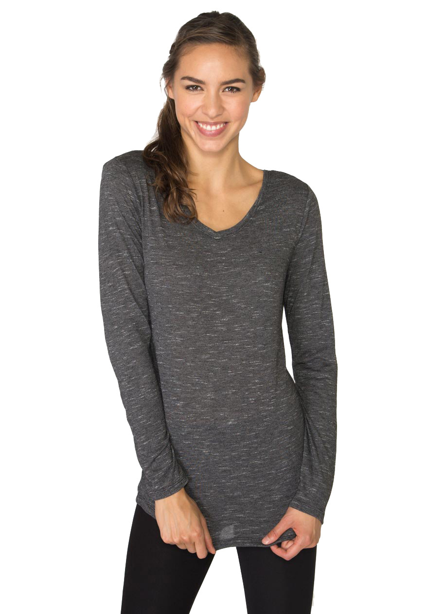 RBX Active Long Sleeve Striped 2-fer Back Top
