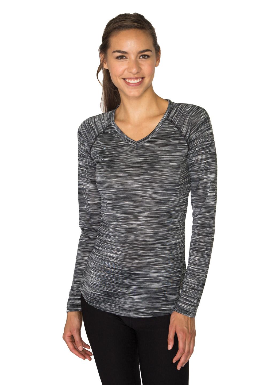 RBX Active Stratus Long Sleeve Lightweight V-Neck Running Tee Shirt