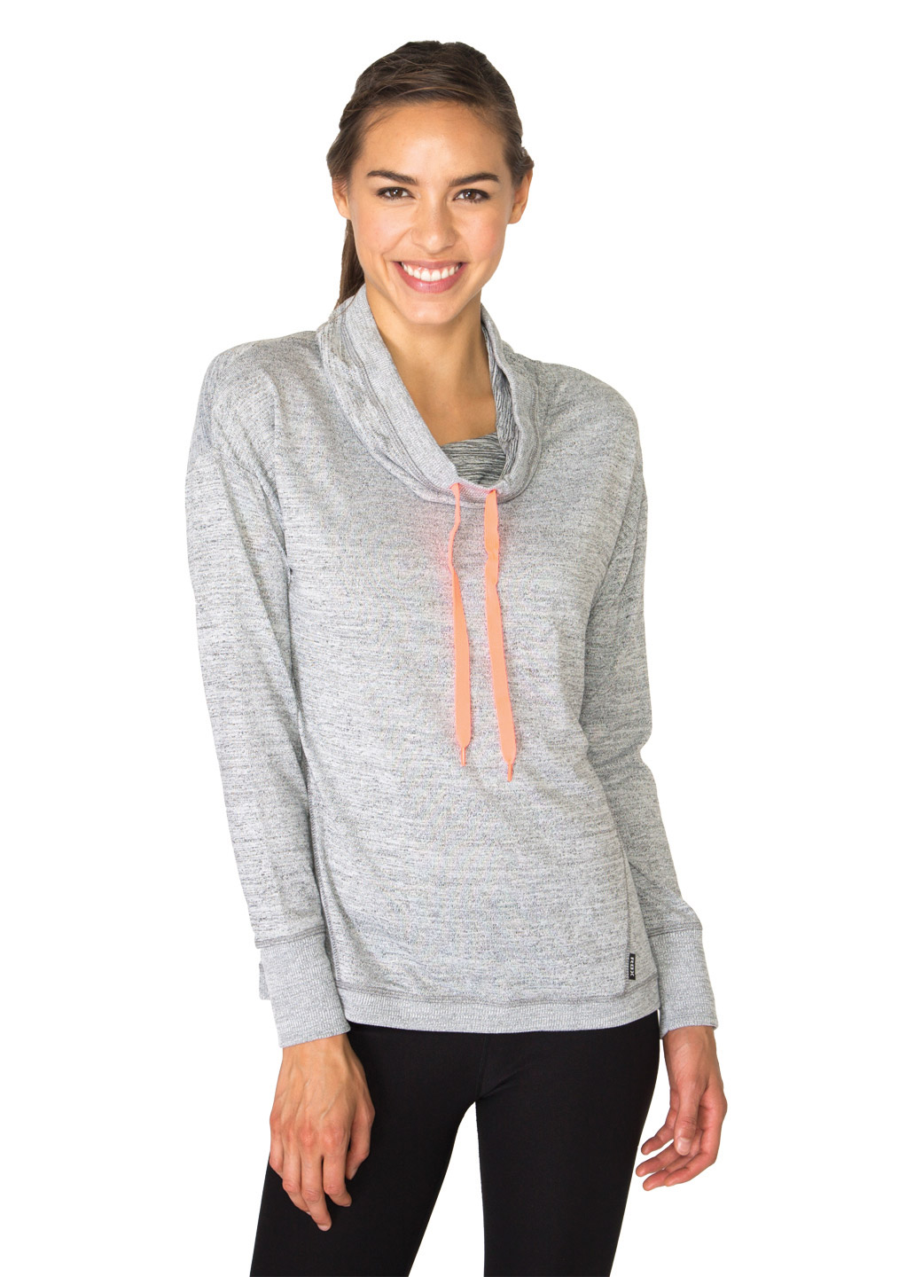 RBX Active Lightweight Sweater Cowl Neck Pullover with Ribbed Trim