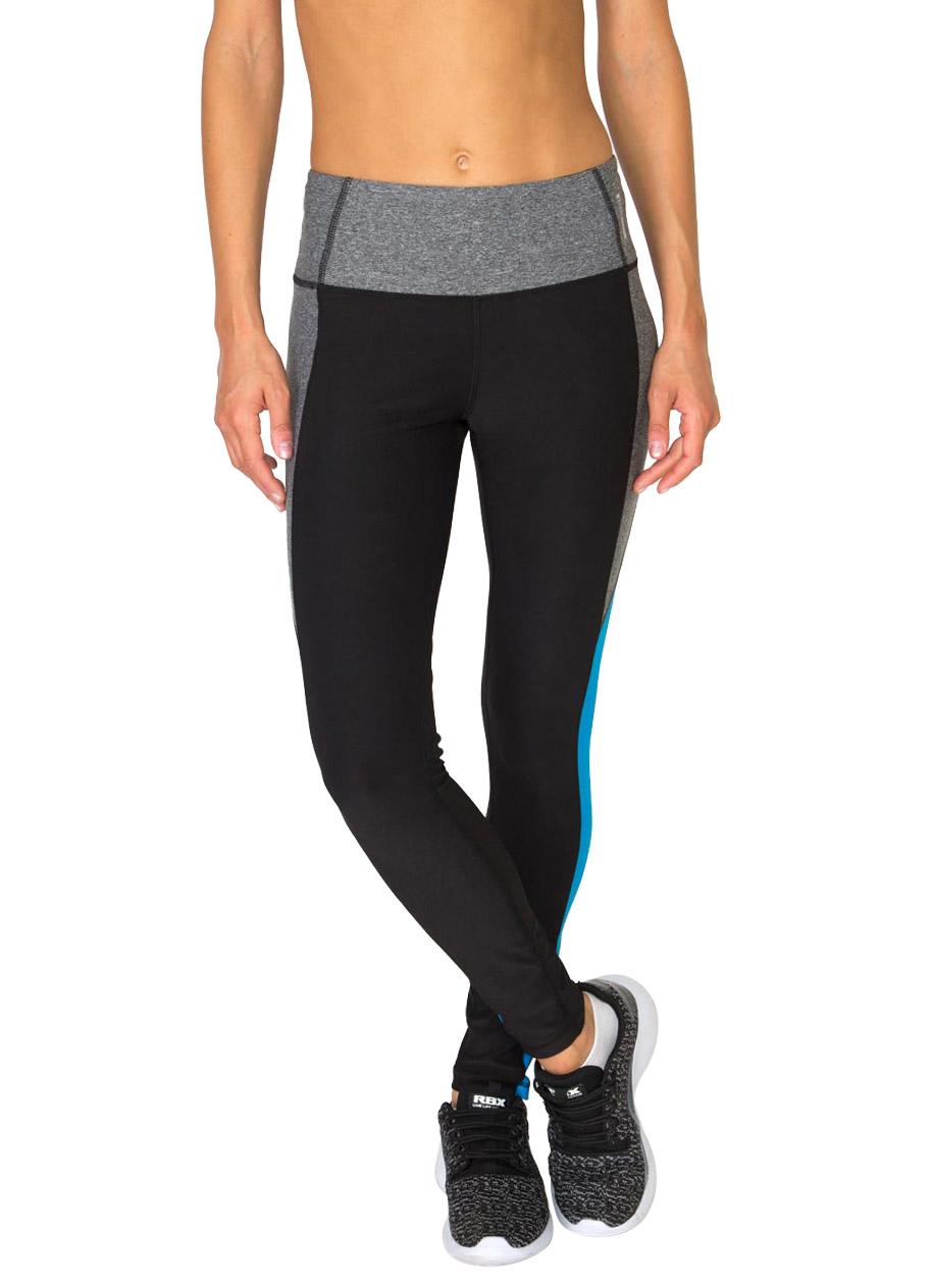 Full Length Color Block Mid Rise Lightweight Yoga Leggings