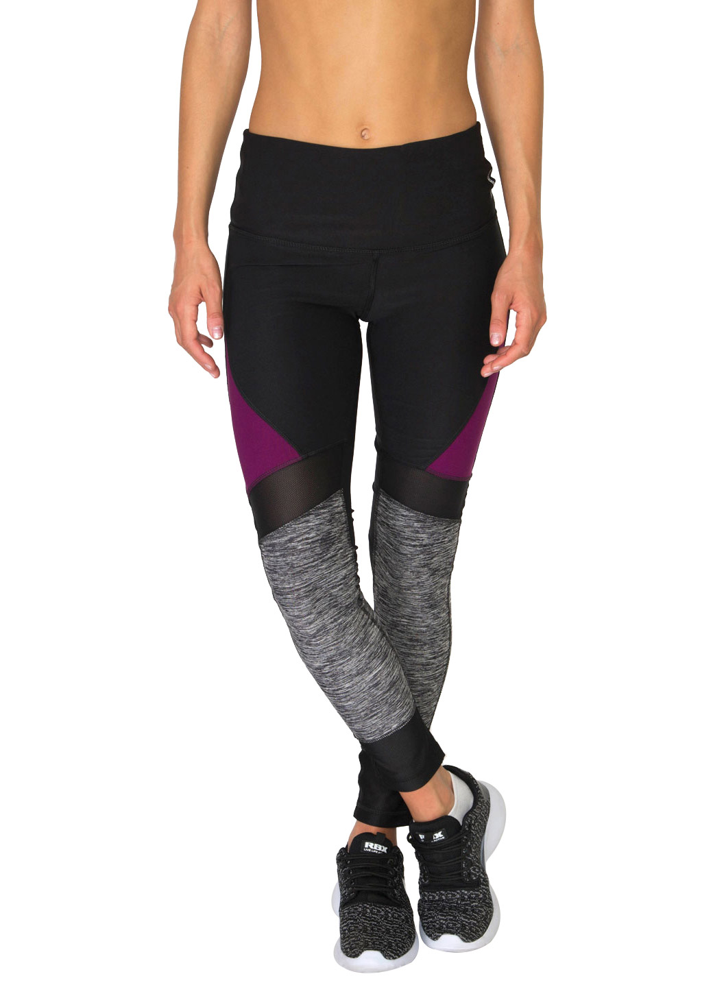 RBX Active Studio Spliced Colorblock Leggings with Mesh Inserts
