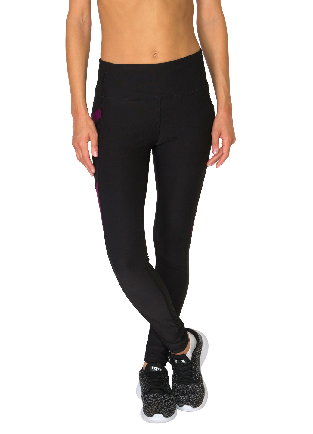 RBX Active Color Block Yoga Leggings With Mesh Outer Pockets