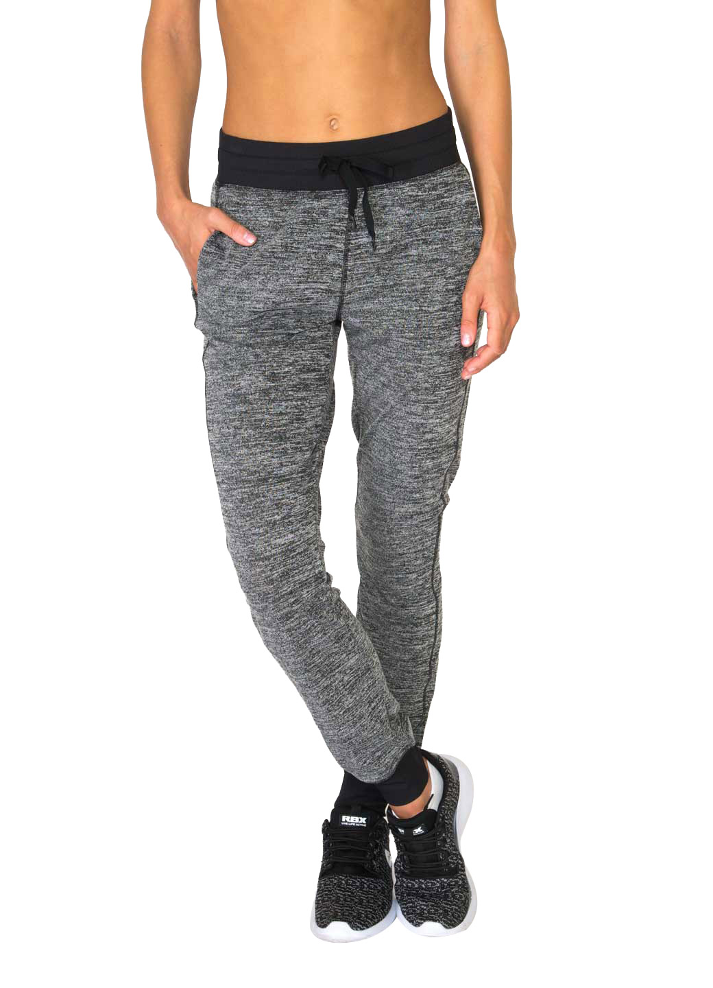 RBX Active Studio Lightweight Sweater Hacci Cuffed Jogger with Contrast Ribbed Banding