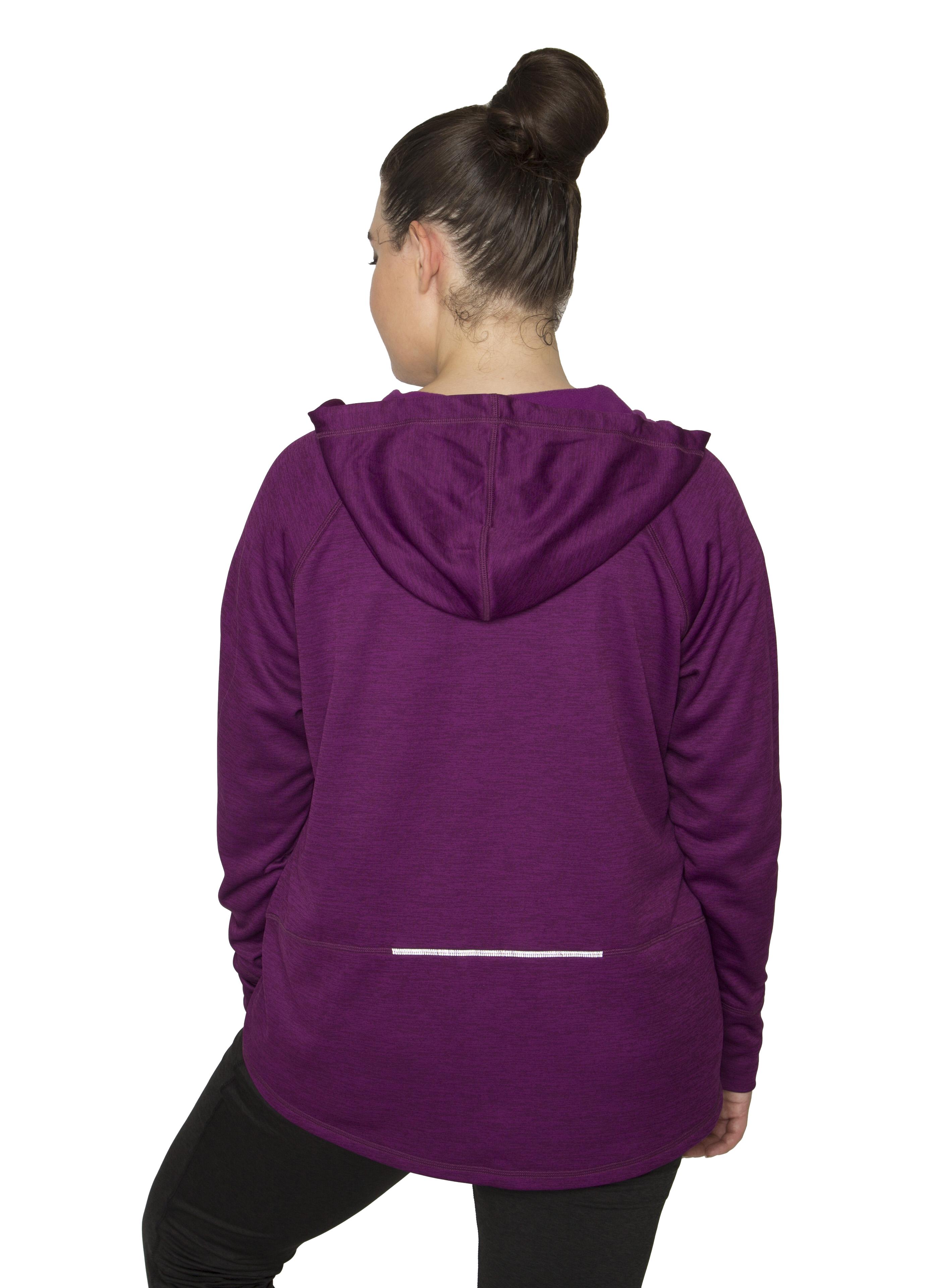 RBX Active Women's Plus Size Full Zip Hooded Fleece Lined ...