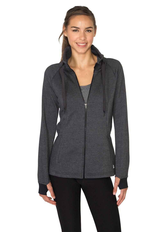 RBX Active Brushed Back Fleece Heathered Anorak Jacket