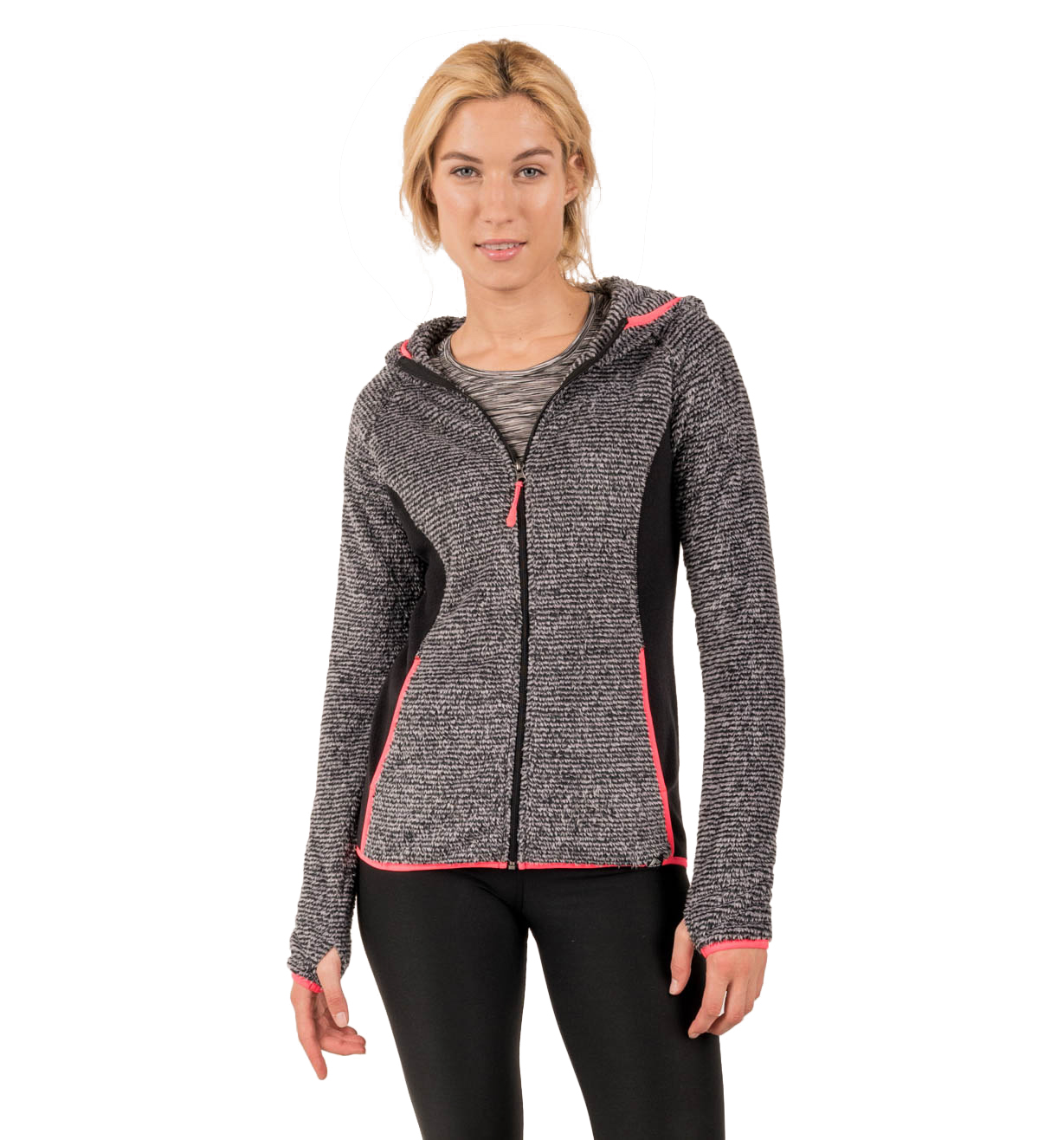 RBX Active Women's Novelty Sherpa Lined Fashion Full Zip ...