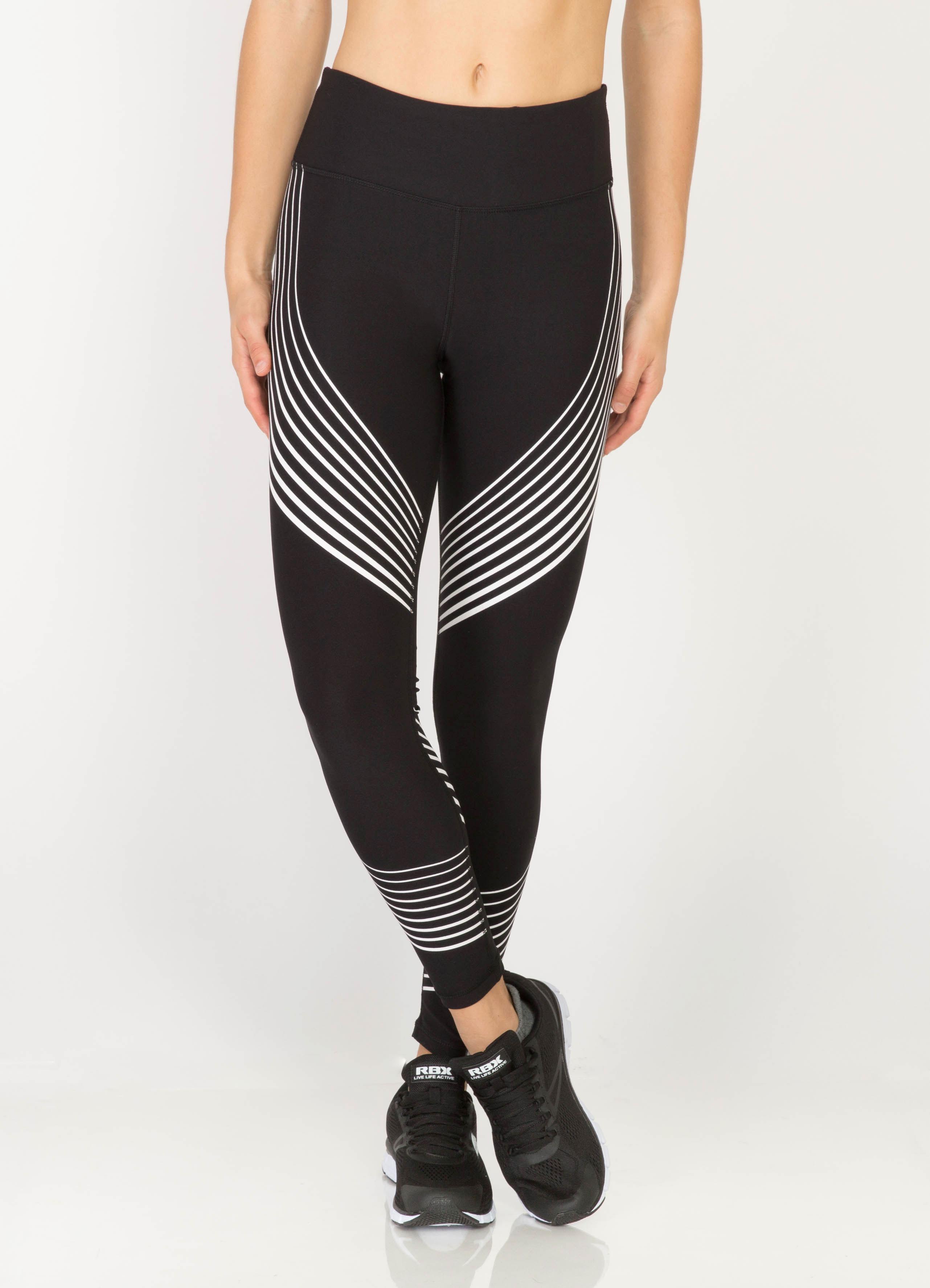 Vortex Contour Stripe Running Tights