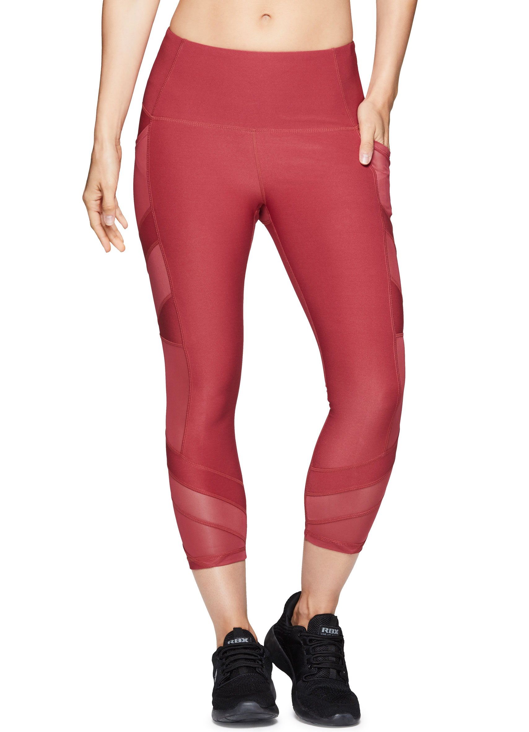 85be7c2be03835 RBX Active Women's Workout Gym Yoga Athletic Leggings Red Multi ...